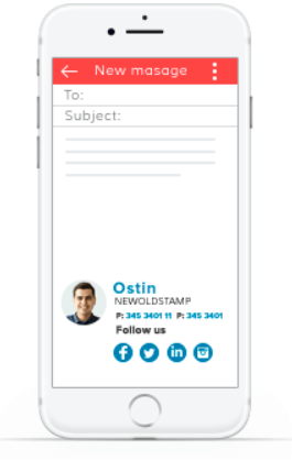 How to make signature mobile friendly